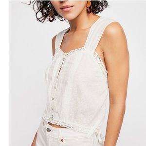 Free People The One Tank Lace Cami